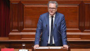 Richard Ferrand lors du Congrès du Parlement, à Versailles (Yvelines), le 9 juillet 2018. (LUDOVIC MARIN / AFP)