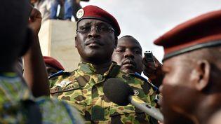 Le lieutenant-colonel Issac Zida, le 31 octobre 2014 à Ouagadougou au Burkina Faso. (ISSOUF SANOGO / AFP)