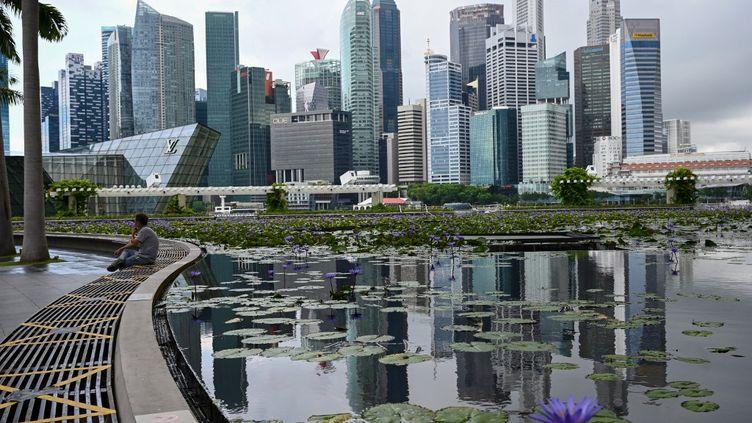 Vue de Singapour, le 14 mai 2021. (ROSLAN RAHMAN / AFP)