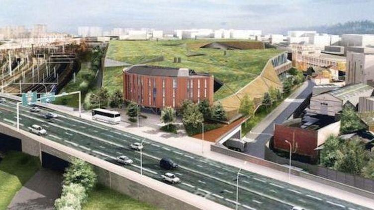 Le projet d'usine de méthanisation de Romainville (Seine-Saint-Denis) est situé dans un quartier urbain, près d'une nationale et de lignes de RER. (FTVi)