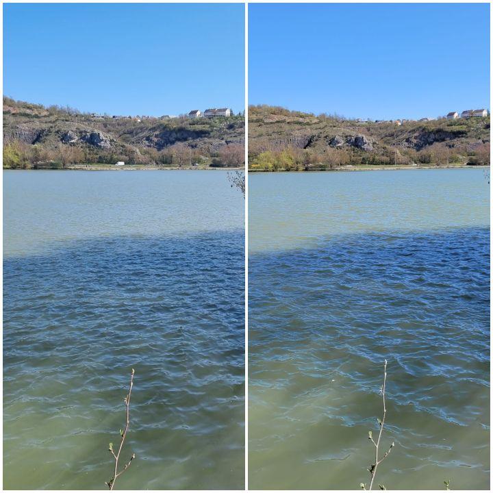 Sur la gauche, une photo prise par leS20 FE 5G. Sur la droite, une photo prise par le Galaxy S21 Ultra 5G. (Gaël Simon)