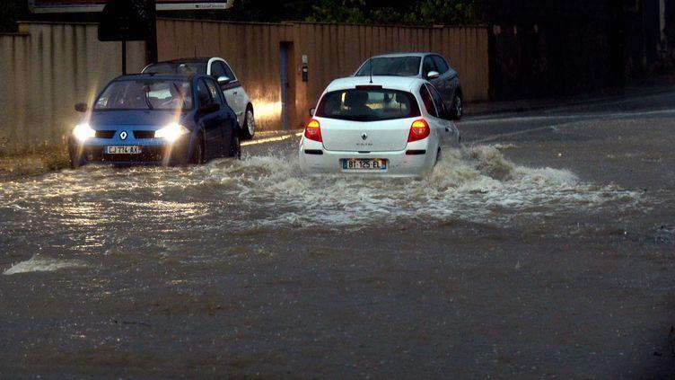 Des inondations à Nimes, en octobre 2014. (Illustration). (MAXPPP)