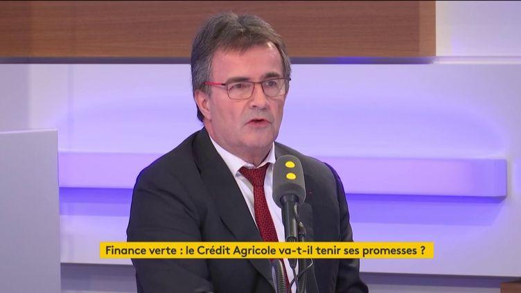 Philippe Brassac, le directeur général du Crédit Agricole, invité de l'interview éco le 25 mars 2020. (FRANCEINFO / RADIOFRANCE)