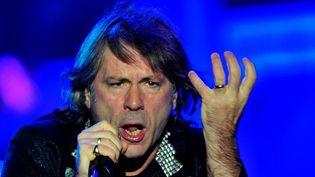 Bruce Dickinson, chanteur d'Iron Maiden, très concerné par la santé des pubs anglais.  (Francesco Degasperi/AFP)