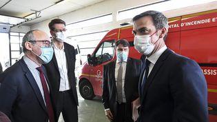 Le ministre de la Santé Olivier Véran à Dunkerque (Nord), le 24 février 2021. (MAXPPP)