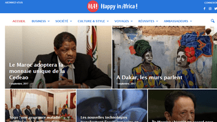 Page d'accueil du site d'information Happy in Africa!