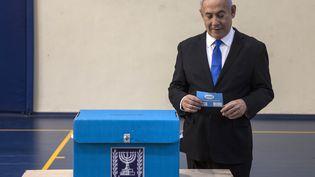 Le Premier ministre, Benyamin Nétanyahou, le 17 septembre 2019. (HEIDI LEVINE / POOL / AFP)