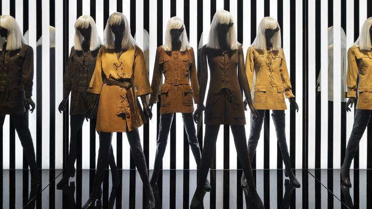 """Exposition """"Betty Catroux Yves Saint Laurent Féminin Singulier""""au musée Yves Saint Laurent Paris. (STEVEN MEISEL)"""