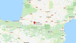 Capture d'écran de la ville de Lourdes (Hautes-Pyrénées), le 12 janvier 2018. (GOOGLE MAPS)