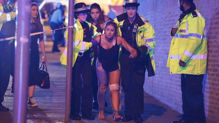Une victime de l'attentat de Manchester, photo utilisée par la plupart des journaux britanniques. (MAXPPP)