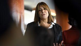 La maire de Marseille Michèle Rubirola lors d'une conférence de presse le 15 octobre. (NICOLAS TUCAT / AFP)