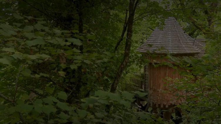 Des cabanes quatre étoiles sont proposées en Dordogne pour des vacanciers soucieux de conjuguer luxe et nature. (CAPTURE ECRAN FRANCE 2)