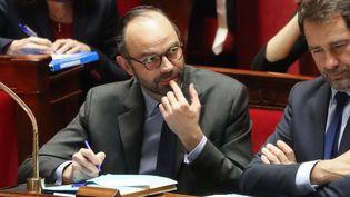 Le Premier ministre, Edouard Philippe, participe à une séance des questions au gouvernement à l'Assemblée nationale, à Paris, le 24 janvier 2018. (JACQUES DEMARTHON / AFP)