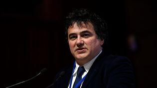 Patrick Pelloux, lors d'une conférence en janvier 2017 à Paris. (LIONEL BONAVENTURE / AFP)