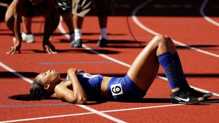 La sprinteuse américaine Allyson Felix (ANDY LYONS / GETTY IMAGES NORTH AMERICA)