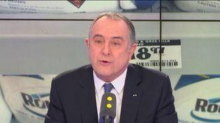 Didier Guillaume, le ministre de l'Agriculture et de l'alimentation, mercredi 30 janvier, sur franceinfo. (RADIO FRANCE / FRANCEINFO)