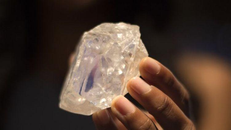 Le diamant Lesedi La Rona trouvé au Botswana. (DON EMMERT / AFP)