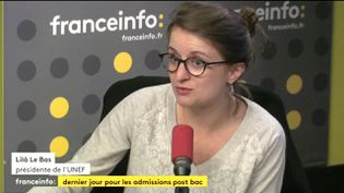 Lilâ Le Bas, présidente de l'Union nationale des étudiants de France, le 14 juillet 2017. (FRANCEINFO)