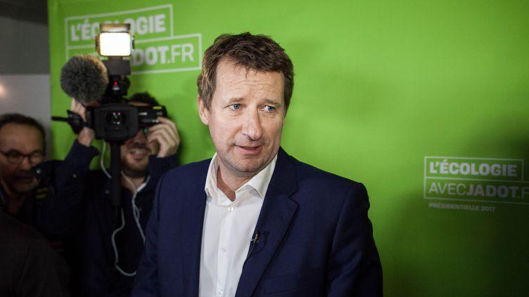 Le candidat écologiste à la présidentielle Yannick Jadot, le 7 novembre 2016 au siège du parti à Paris. (TRISTAN REYNAUD/SIPA)