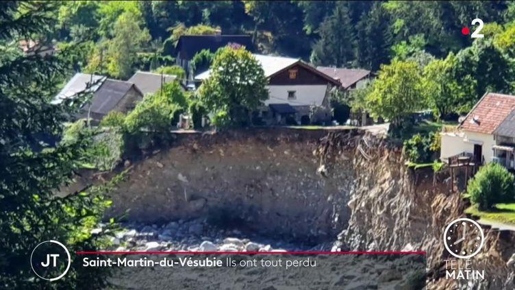 A la place de ce trou, il y avait la maison de Mathieu Airaudi à Saint-Martin-Vésubie (France 2)