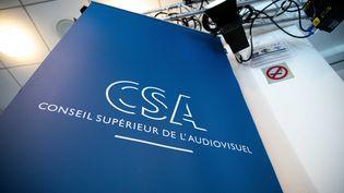 Le logo du Conseil supérieur de l'audiovisuel. (CHRISTOPHE MORIN / MAXPPP)