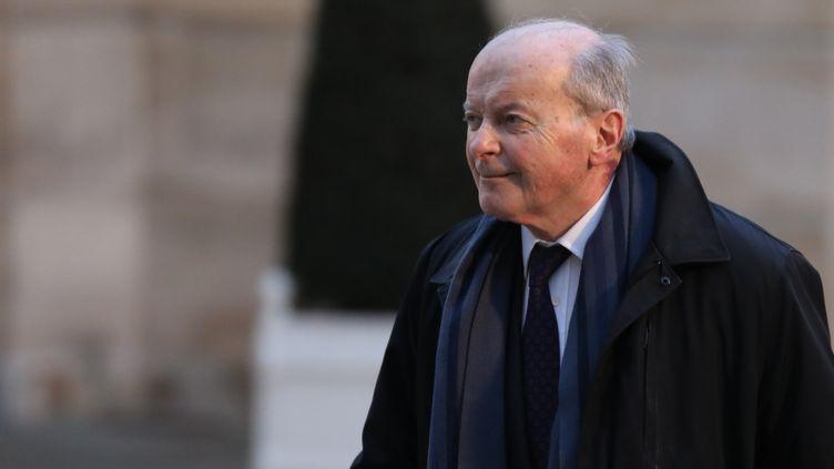 Le Défenseur des droits Jacques Toubon arrive à l'Elysée, le 30 janvier 2018, à Paris. (LUDOVIC MARIN / AFP)