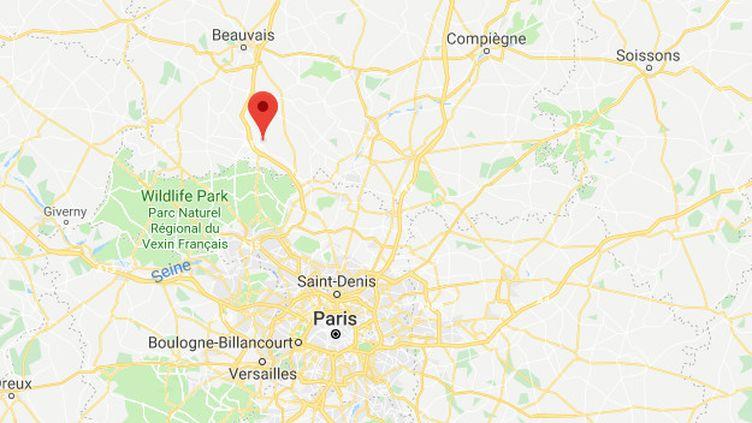 Un jeune homme scolarisé au lycée Lavoisier à Méru (Oise) a écopé de six fois de prison ferme pour des violences enmarge d'une manifestation contre laréforme de l'Education, le 14 décembre 2018. (GOOGLE MAPS / FRANCEINFO)