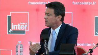 L'ancien premier ministre socialiste Manuel Valls sur le plateau de France Inter, le 24 avril 2017. (FRANCE INTER)