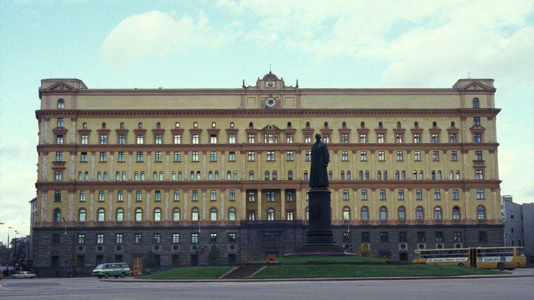 La façade de la Loubianka, le bâtiment des services de sécurité russe à Moscou, en Russie. (MARC DEVILLE / GAMMA-RAPHO / VIA GETTY IMAGES)