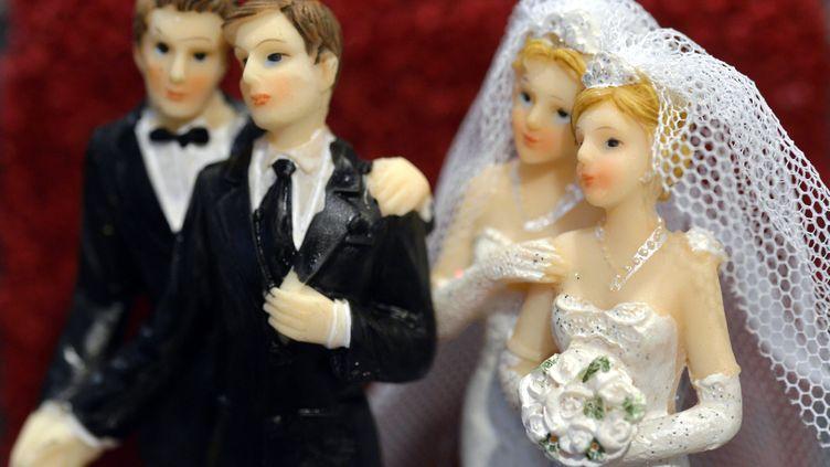 Plus des deux tiers des Français (68%) sont favorables au mariage homosexuel, selon un sondage Ifop publié samedi 15 novembre 2014 sur le site Atlantico. (MAXPPP)