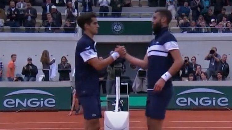 Benoît Paire etPierre-Hugues Herbertà Roland-Garros. (FRANCE 3)