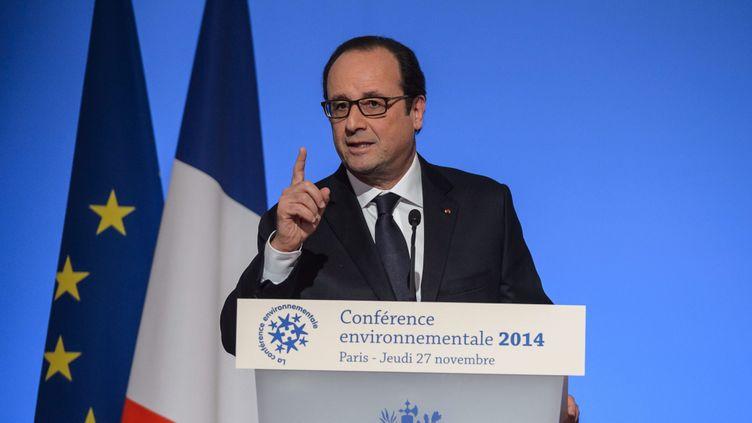 (Bousculé sur l'écotaxe, le barrage de Sivens ou l'aéroport Notre-Dame-des-Landes, le Président veut reprendre la main sur les dossiers environnementaux © Maxppp)