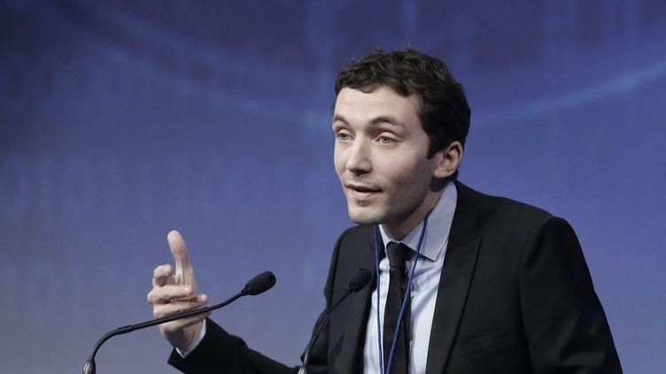 Le maire de Beaucaire (Gard), Julien Sanchez, au congrès du Front national à Lyon (Rhône), le 30 novembre 2014. (MAXPPP)