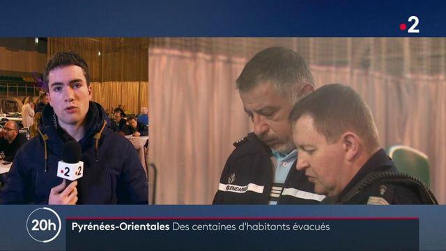 Pyrénées-Orientales : des habitants évacués passent la nuit dans des gymnases