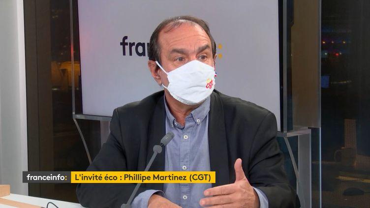 Phlippe Martinez,secrétaire général de la CGT, invité de franceinfo, lundi 9 novembre 2020. (FRANCEINFO)