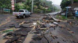 La Polynésie française est touchée par de graves intempéries. Ici, le 22 janvier 2017. (GREGORY BOISSY / AFP)