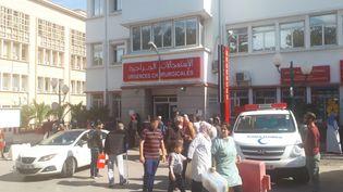 L'entrée des urgences chirurgicales de l'hôpital universitaire Mustapha d'Alger (Algérie)le 2 avril 2019.  (KAHINA NAZIR / RADIO FRANCE)