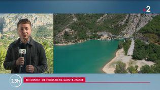 Moustiers-Sainte-Marie, dans les Alpes-de-Haute-Provence, est un village classé parmi les plus beaux de France. (CAPTURE ECRAN FRANCE 2)