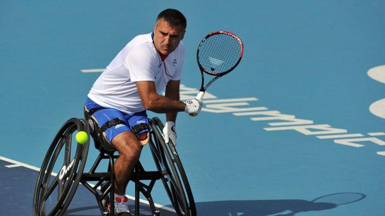 Stéphane Houdet lors du tournoi paralympique de Londres