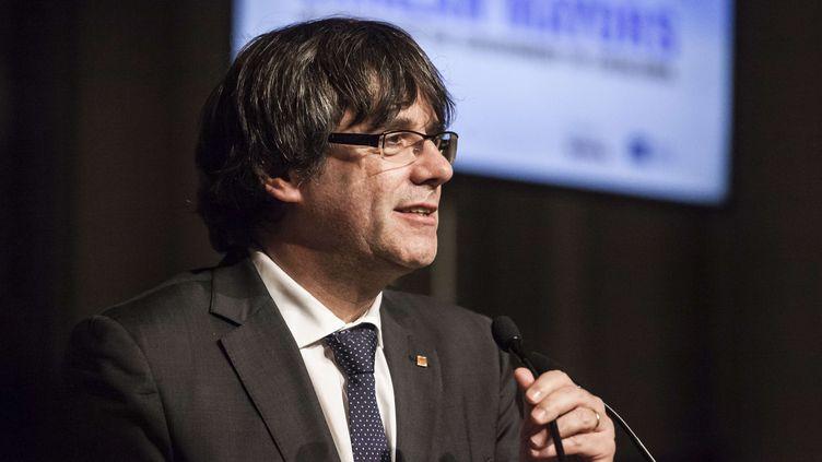 L'ancien président du gouvernement catalan, Carles Puigdemont, à Bruxelles (Belgique), le 7 novembre 2017. (KEVIN VAN DEN PANHUYZEN/SIPA)