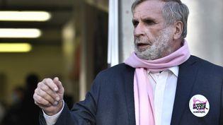 Patrice Blanc, président de l'association des Restos du coeur, à Asnières-sur-Seine, en Ile-de-France, le 24 novembre 2020. (STEPHANE DE SAKUTIN / AFP)