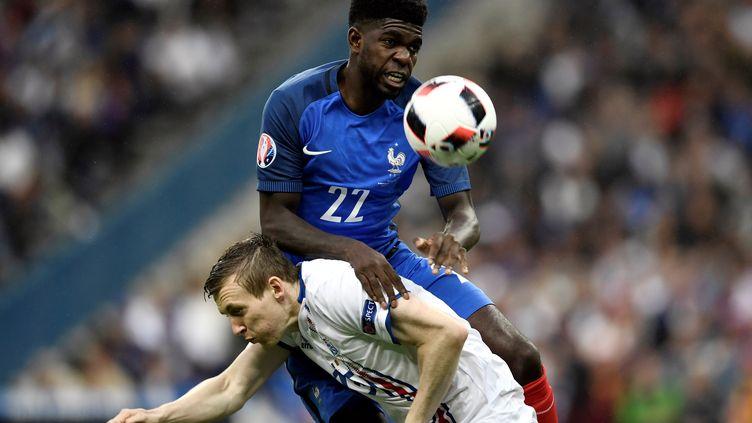 Samuel Umtiti a répondu aux attentes de Didier Deschamps contre l'Islande (PHILIPPE LOPEZ / AFP)