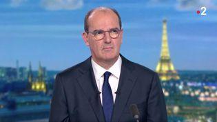 Le Premier ministre Jean Castex sur le plateau du journal de 20 heures, le vendredi 17 juillet 2020. (CAPTURE ECRAN FRANCE 2)
