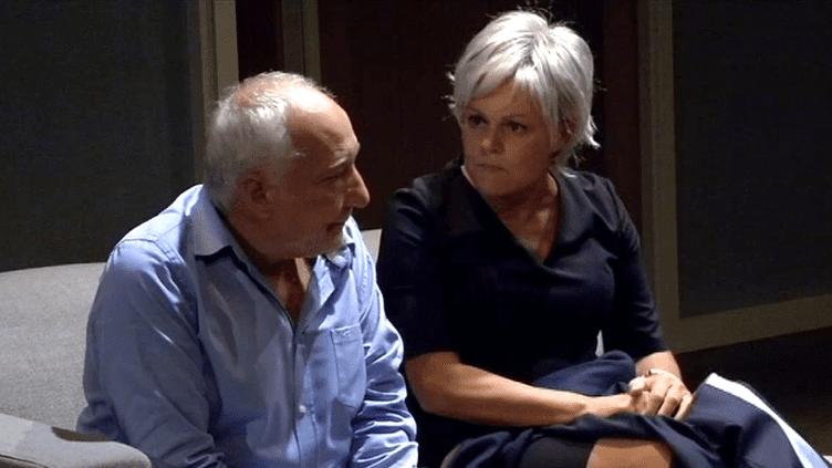 """Muriel Robin aux côtés de son """"mari"""", François Berléand.  (Capture d'écran France 3)"""