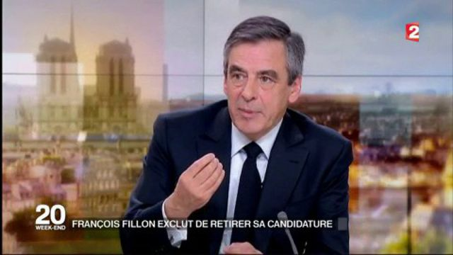 Présidentielle : François Fillon exclut de retirer sa candidature