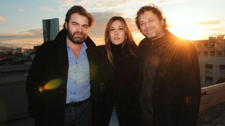 Mathilde Seigner, Clovis Cornillac et Christophe Ruggia  (PHOTOPQR/LA PROVENCE)