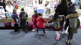 Le Salon du livre et de la presse jeunesse à Montreuil (Seine-Saint-Denis), le 29 novembre 2017. (JACQUES DEMARTHON / AFP)