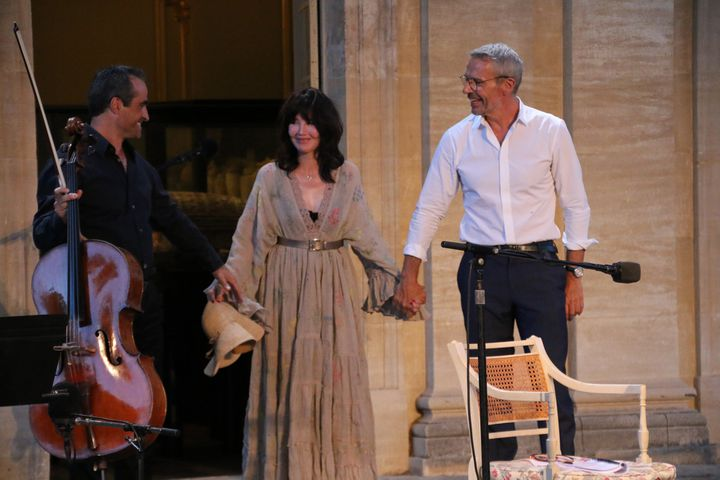Raphaël Perraud, violoncelliste, Isabelle Adjani et Lambert Wilson à Avignon  (S.Jouve/Culturebox)