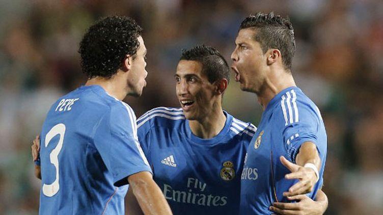 La joie des Madrilènes Cristiano Ronaldo, Pepe et Di Maria