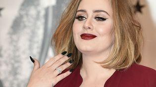 Adele le 24 février 2016 à Londres.  (Niklas Halle'n / AFP)